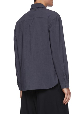 Back View - Click To Enlarge - SOLID HOMME - Concealed placket shirt