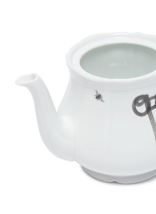 Detail View - Click To Enlarge - GINORI 1735 - Off-White™ x Ginori 1735 'OFF' & 'WHITE' Paint Print Teapot