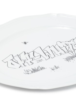 Detail View - Click To Enlarge - GINORI 1735 - Off-White™ x Ginori 1735 Graffiti Print Oval Plate