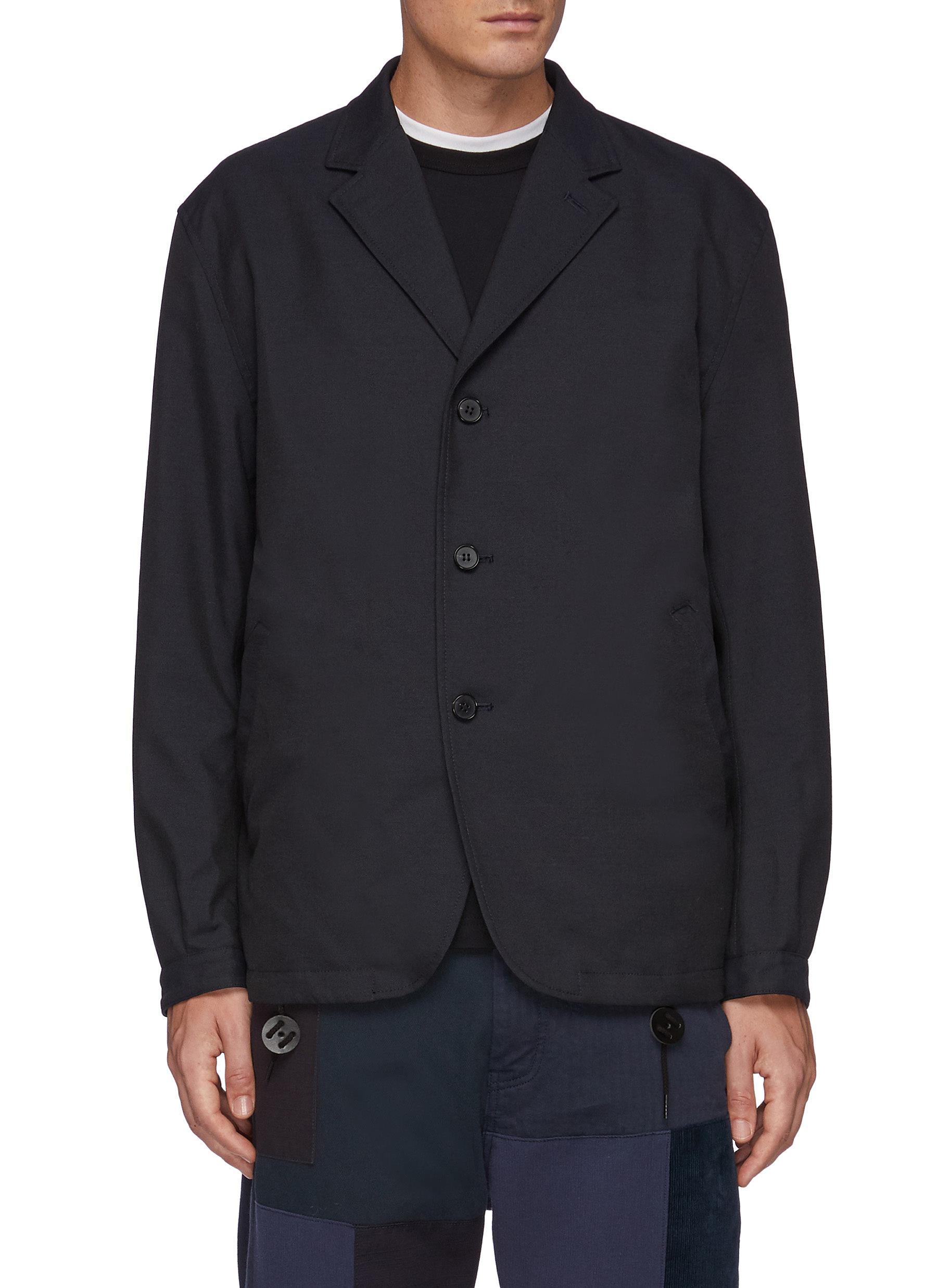 Reversible Colourblocking Flap Pocket Single Breasted Blazer