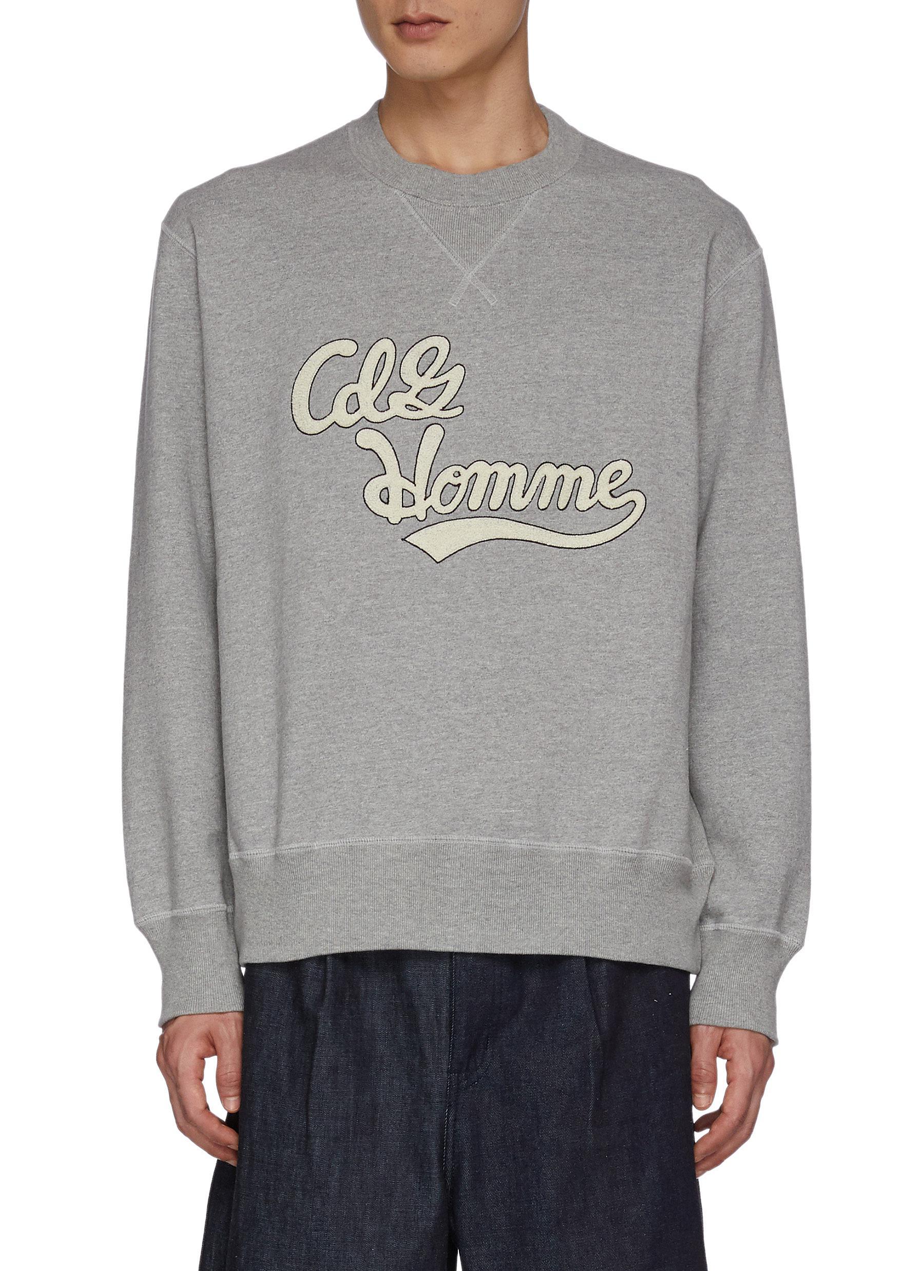 Logo Appliqued Cotton Sweatshirt