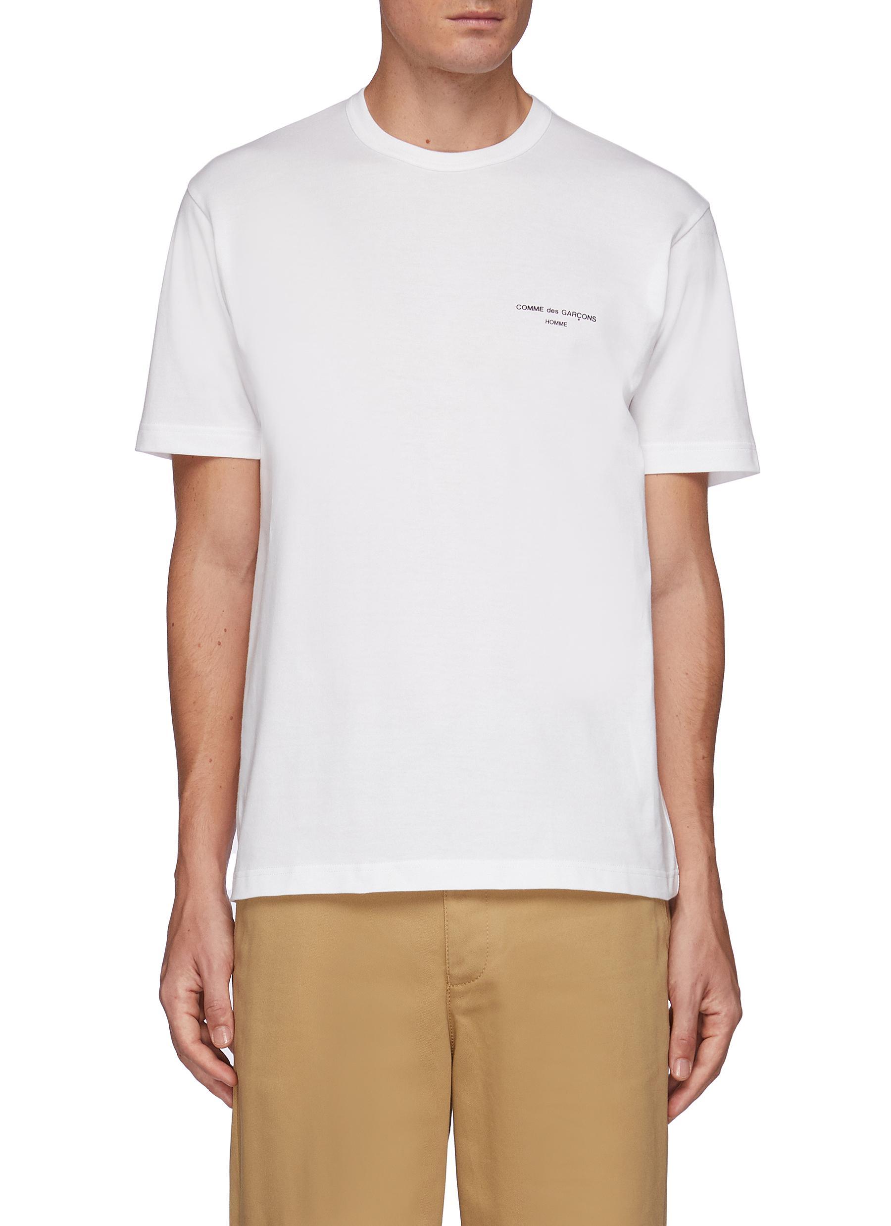 Branding Appliqued Short Sleeved Crewneck Cotton T-Shirt