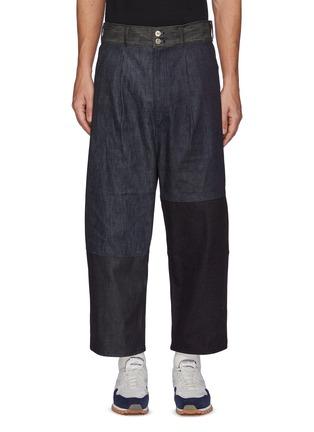 Main View - Click To Enlarge - COMME DES GARÇONS HOMME - Patchwork Denim Cropped Loose Pants