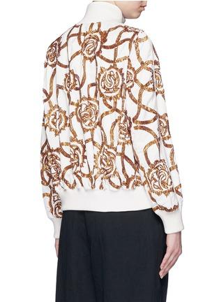 Back View - Click To Enlarge - Dries Van Noten - 'Vance' floral sequin bomber jacket