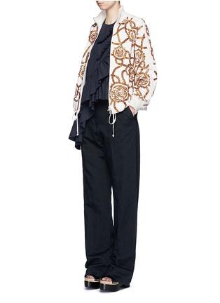 Figure View - Click To Enlarge - Dries Van Noten - 'Vance' floral sequin bomber jacket
