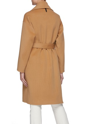 Back View - Click To Enlarge - MACKAGE - Thalia' Double Face Wool Belted Robe Coat