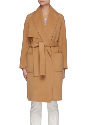 Main View - Click To Enlarge - MACKAGE - Thalia' Double Face Wool Belted Robe Coat
