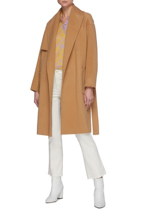 Figure View - Click To Enlarge - MACKAGE - Thalia' Double Face Wool Belted Robe Coat