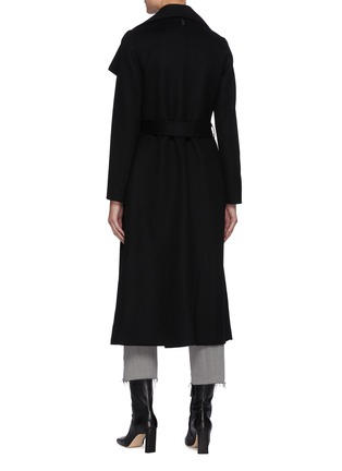 Back View - Click To Enlarge - MACKAGE - Mai' Double Face Wool Belted Waterfall Collar Coat