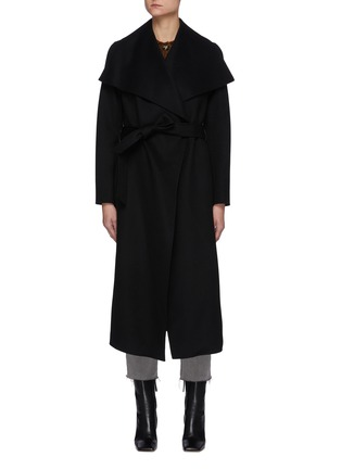 Main View - Click To Enlarge - MACKAGE - Mai' Double Face Wool Belted Waterfall Collar Coat