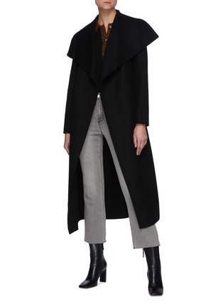 Figure View - Click To Enlarge - MACKAGE - Mai' Double Face Wool Belted Waterfall Collar Coat