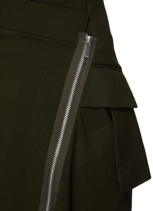 - SACAI - Asymmetrical Front Slit Zip Long Skirt