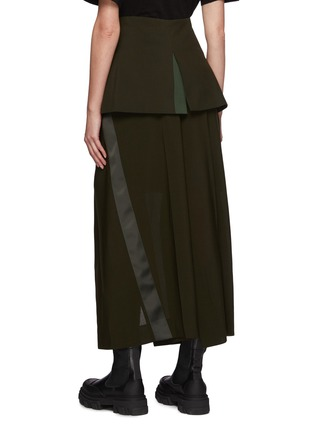 Back View - Click To Enlarge - SACAI - Asymmetrical Front Slit Zip Long Skirt