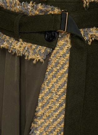 - SACAI - Canvas Tweed Patchwork Chiffon Wrap Maxi Skirt
