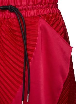 - SACAI - Wrap Effect Pleated Handkerchief Hem Drawstring Midi Skirt