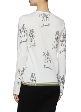 Back View - Click To Enlarge - 3.1 PHILLIP LIM - Hunting Print Long Sleeve T-Shirt