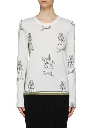 Main View - Click To Enlarge - 3.1 PHILLIP LIM - Hunting Print Long Sleeve T-Shirt