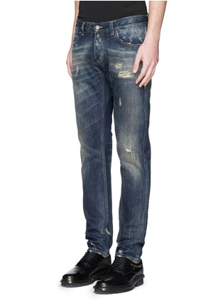 Front View - Click To Enlarge - - - 'Gold 14' distressed jeans