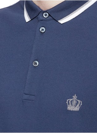 Detail View - Click To Enlarge - - - Crown embroidery polo shirt