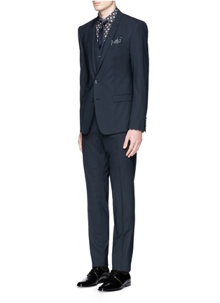 Figure View - Click To Enlarge - - - 'Gold' slim fit three piece suit