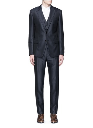 Main View - Click To Enlarge - Dolce & Gabbana - Zigzag jacquard wool-silk satin three-piece tuxedo suit
