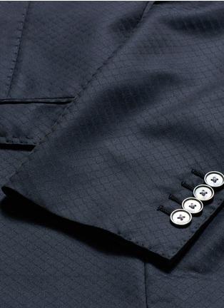 - - - Diamond jacquard wool-silk three piece tuxedo suit