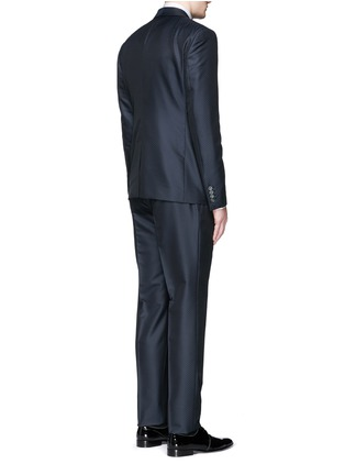 Back View - Click To Enlarge - Dolce & Gabbana - Diamond jacquard wool-silk three piece tuxedo suit