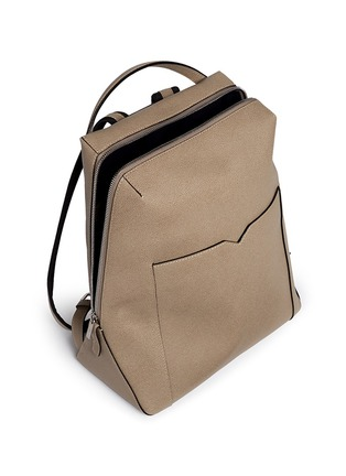 Detail View - Click To Enlarge - Valextra - 'V-Line' leather backpack