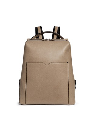 Main View - Click To Enlarge - Valextra - 'V-Line' leather backpack
