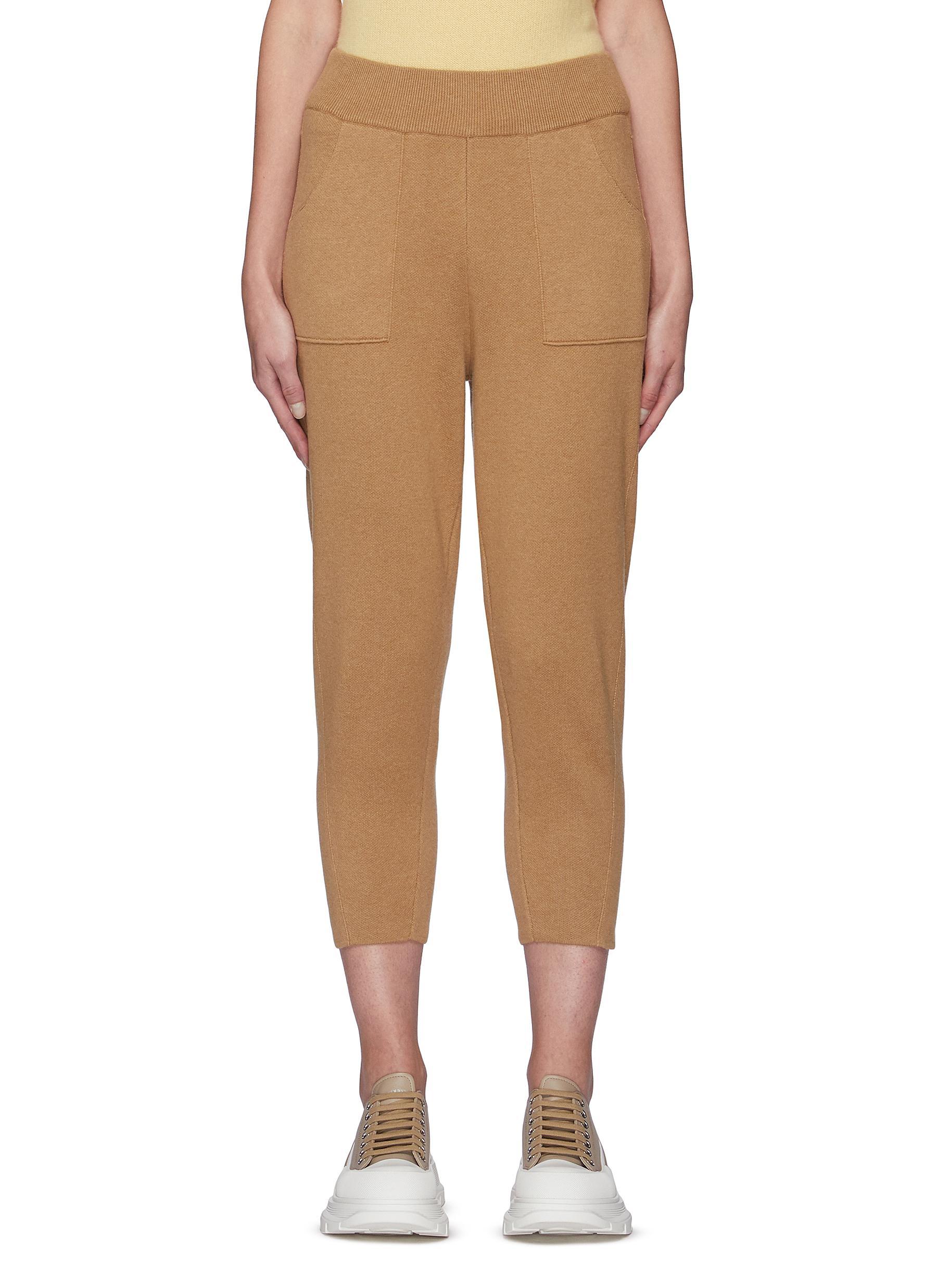 Cashmere Cotton Peg Leg Pants