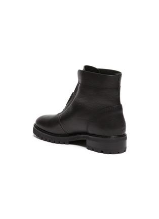 - PEDRO GARCÍA - Flat Leather Zip Ankle Boot