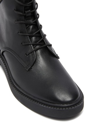 Detail View - Click To Enlarge - VINCE - Kady Lace Leather Combat Ankle Boots