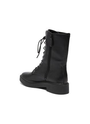 - VINCE - Kady Lace Leather Combat Ankle Boots