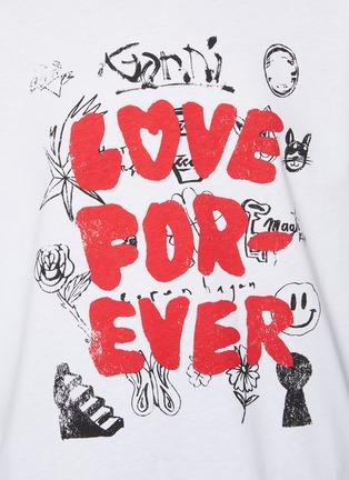 - GANNI - Basic Cotton ' Love Forever' Jersey Tee