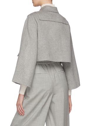Back View - Click To Enlarge - SANS TITRE - Cover Button Detail Cropped Blazer