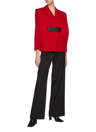 Figure View - Click To Enlarge - SANS TITRE - Mid Length Wool Jacket