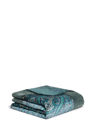 Main View - Click To Enlarge - Etro - Morlaix Quintin paisley print velvet king size bed cover