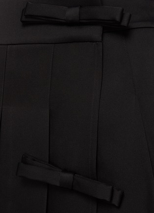 - MING MA - Bow Detail Pleated Mini Skirt