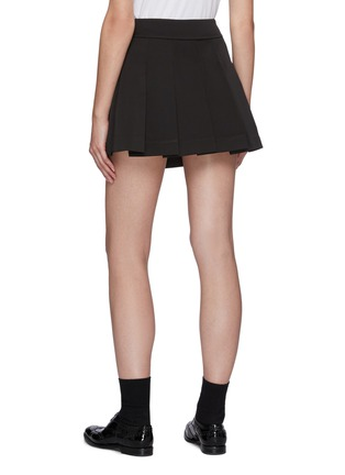 Back View - Click To Enlarge - MING MA - Bow Detail Pleated Mini Skirt