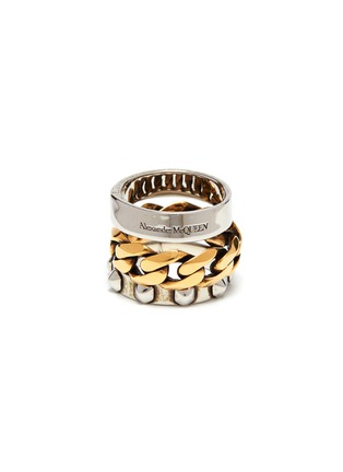 Main View - Click To Enlarge - ALEXANDER MCQUEEN - Multi Layer Slideable Punk Ring