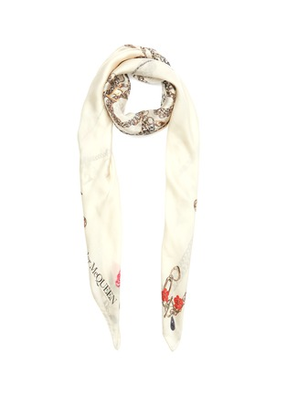 Main View - Click To Enlarge - ALEXANDER MCQUEEN - Chain Graphic Print Silk Shawl