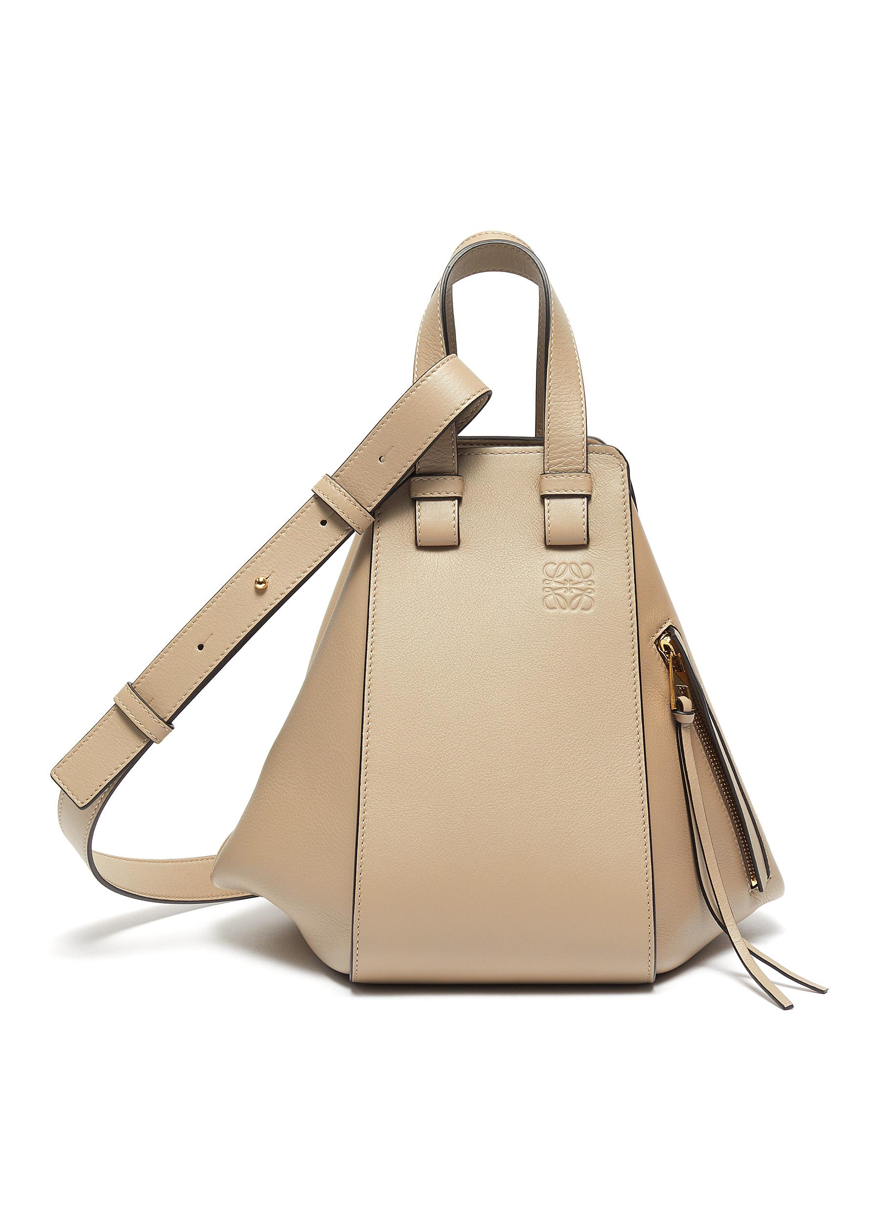 'Hammock' panelled leather small tote bag