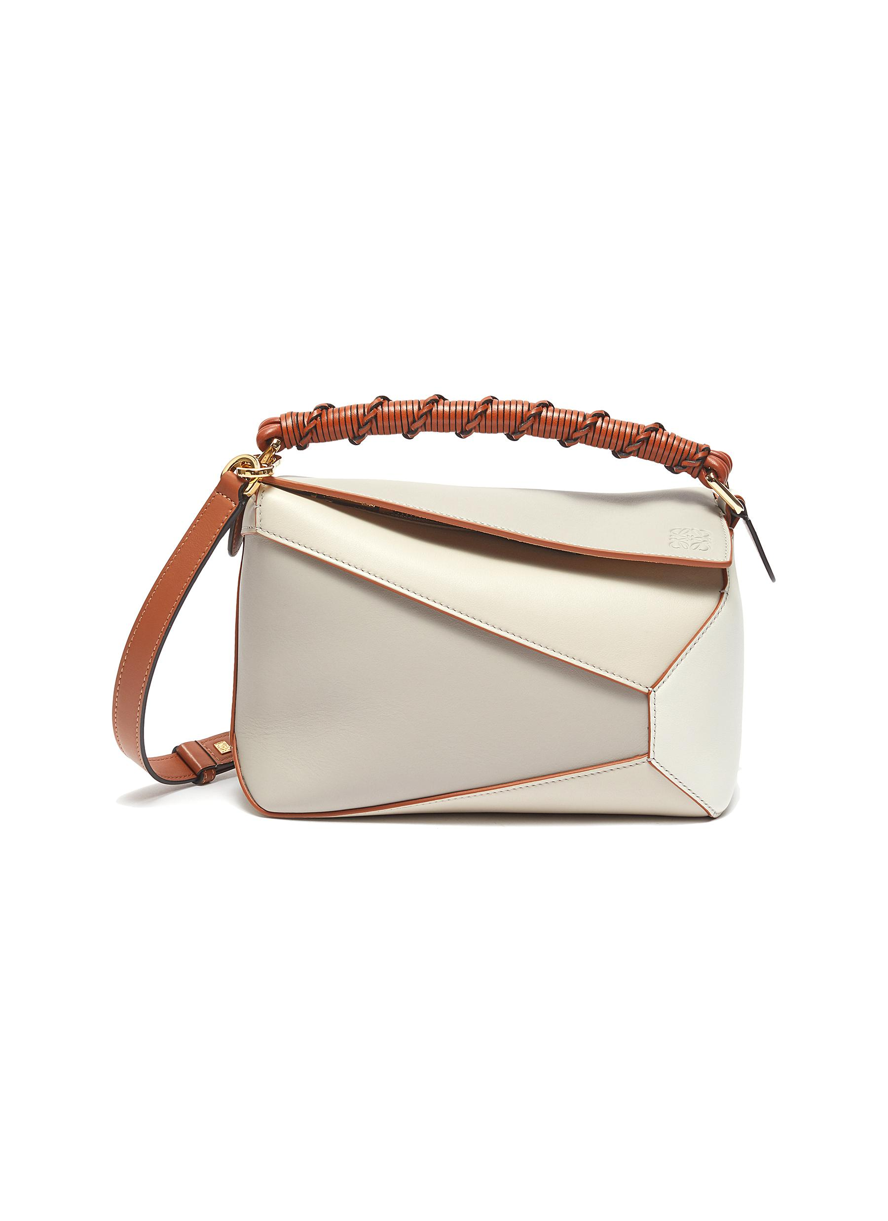 Puzzle Edge' small leather bag