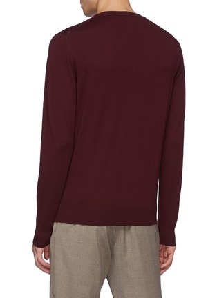 Back View - Click To Enlarge - ISAIA - V-neck Merino Wool Sweater