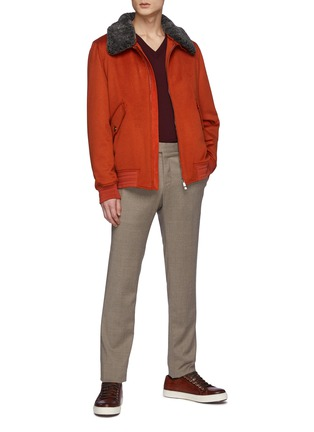 Figure View - Click To Enlarge - ISAIA - V-neck Merino Wool Sweater