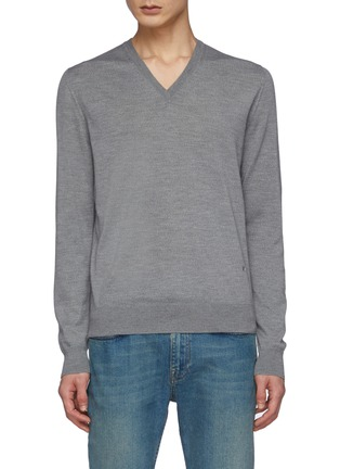 Main View - Click To Enlarge - ISAIA - V Neck Long Sleeved Wool Sweater