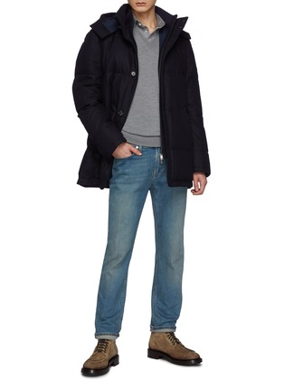 Figure View - Click To Enlarge - ISAIA - V Neck Long Sleeved Wool Sweater