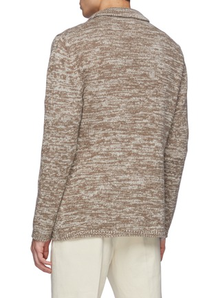 Back View - Click To Enlarge - ISAIA - Cashmere Mouline Knit Blazer