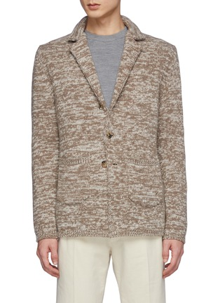 Main View - Click To Enlarge - ISAIA - Cashmere Mouline Knit Blazer