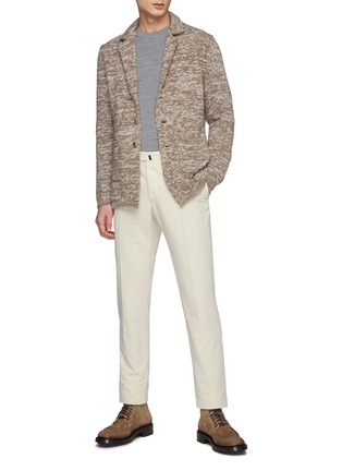 Figure View - Click To Enlarge - ISAIA - Cashmere Mouline Knit Blazer